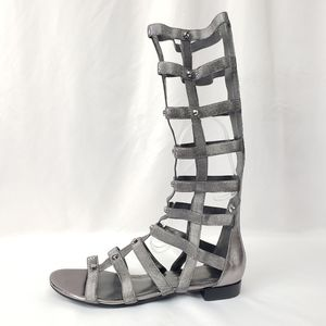 Marc Fisher Tall Silver Gladiator Sandals